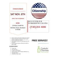 Catholic Charities CITIZENSHIP WORKSHOP november 6th