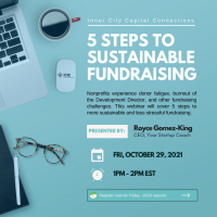 5 Steps to Sustainable Fundraising webinar