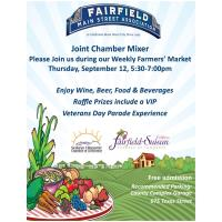 Joint Chamber Mixer in Downtown Fairfield