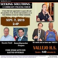 Seeking Solutions! A Community Policing Forum