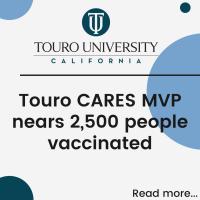 Touro CARES MVP nears 2,500 vaccinated