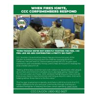 WHEN FIRES IGNITE, CCC CORPSMEMBERS RESPOND