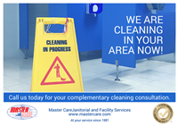 We are cleaning businesses in your area now
