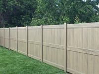 Dark Maple vinyl fence