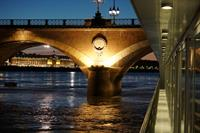 View from our river cruise ship balcony in Bordeaux, France