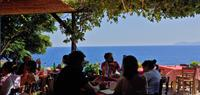 Lunch at Matoulas in Monembasia, Greece