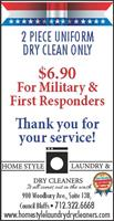 Military & First Responder Dry Cleaning Discounts