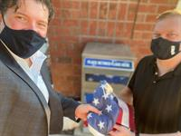 Properly dispose of your American flag at the PottCo Veterans Affairs office