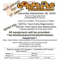 Troy Harvest Fest 1st Annual Cornhole Tournament