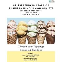YCG 10 Year Anniversary Ice Cream Open House