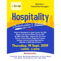 Hospitality Stakeholders Meeting