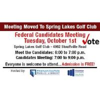 Federal Election - Candidates Meeting