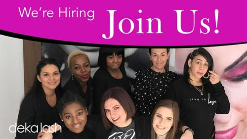 Licensed Estheticians and Cosmetologists.  Send your resume to northville@dekalash.com