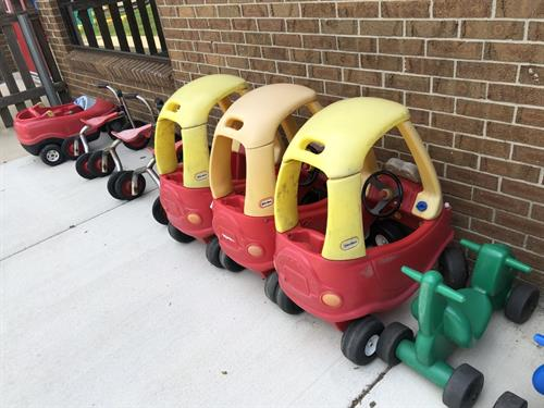 Toddler/Discovery Preschool cars and bikes