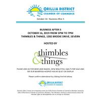 October Business After 5 Hosted by Thimbles & Things