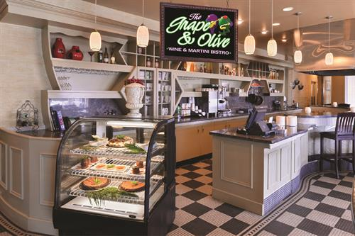 The Grape & Olive is open for Breakfast & Dinner daily
