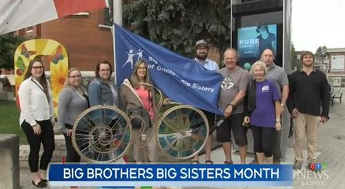 Flag Raising for Big Brothers Big Sisters Month 2019