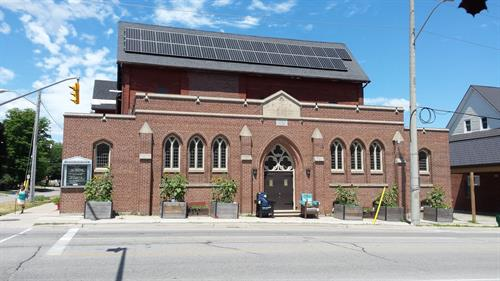 We are a green building, always working hard to conserve energy and help the planet. Solar panels installed in 2018.