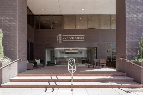 Building entrace: 44 Cook St. in Cherry Creek!