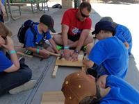 building bat boxes at Summer Cub Scout Day CAmp