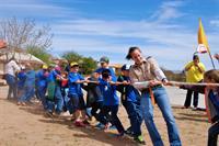 tug-o-war at Cub Scout day camp