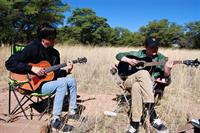 Scouts enjoy a little down time at camporee