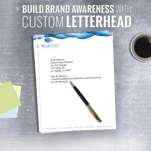 Letterhead available.