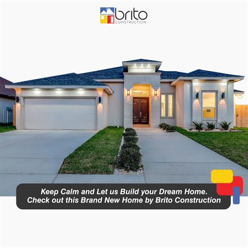 Keep Calm and Let us Build your Dream Home. ??? Check out this Brand New Home by Brito Construction Corp. Call us at (956) 540 5557 if you are looking for a brand new luxury house. www.britoconstruction.com ??