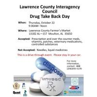 Lawrence County Interagency Council Drug Take Back Day