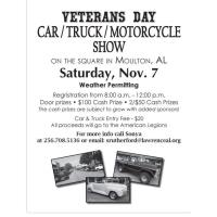 Veteran's Day Car/Truck/Motorcycle Show