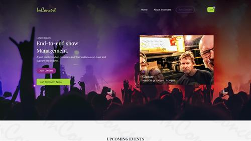 Digital Concert Venue Site