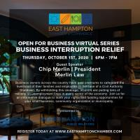 Open For Business Virtual Series | Business Interruption Relief