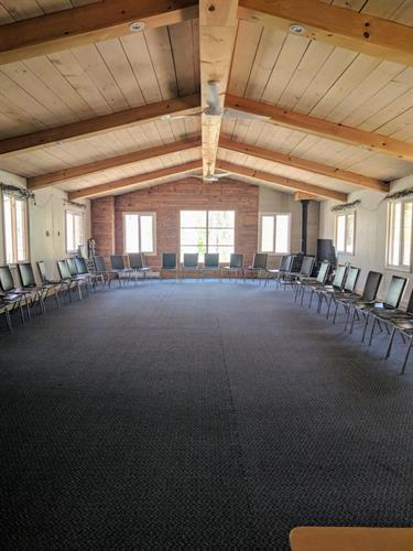 The Meeting Hall set up for a group