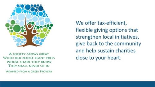 """Flexible giving options, tax advantages and a seamless giving process - your """"one-stop-shop"""" for giving"""