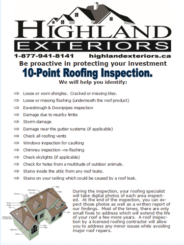 10-point roof inspectioin