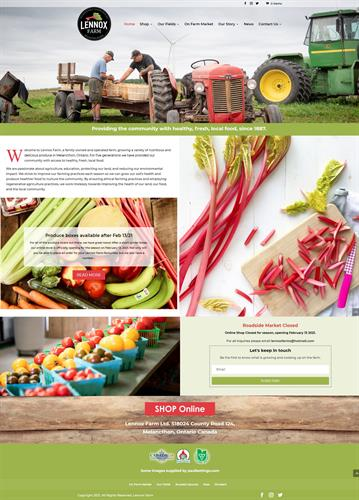Redesign for this popular farm store and ecommerce site