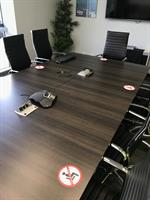 GES boardroom table for covid seating