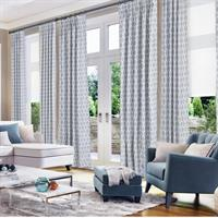 Drapery Panels with Roller Shades