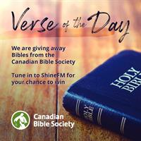 Verse of the Day - Win a Bible!