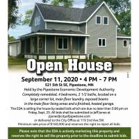 Open House for Pipestone EDA House for Sale