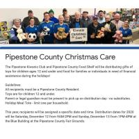 Pipestone County Christmas Care Distribution Days