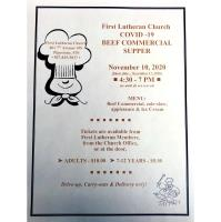 First Lutheran Church Beef Commercial Dinner