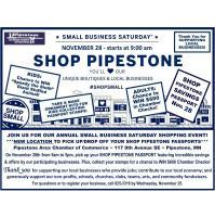 Shop Pipestone Small Business Saturday