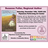 CANCELLED:  Author Suzanne Fuller