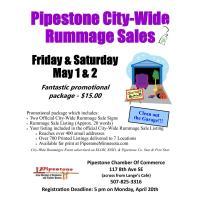 POSTPONED DATE TBD:  City-Wide Rummage Sales