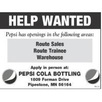 Pepsi Cola Bottling Co. of Pipestone