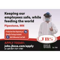 JBS is Hiring - Production Rate Beginning at $16!
