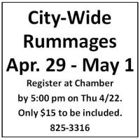 City-Wide Rummages Thursday April 29 - Saturday May 1
