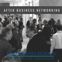 October 2019 After Business Mini Trade Show @ U of W SoCA  Sponsored by Blackburn Radio, University of Windsor Alumni Association, and University of Windsor Catering and Conference Services