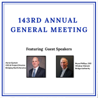 143rd Annual General Meeting & Luncheon presented by Windsor Port Authority Featuring Keynote Speakers Aaron Epstein & Bryce Phillips